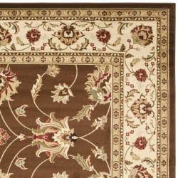 Safavieh Lyndhurst Traditional Oriental Brown/ Ivory Rug (8' 9 x 12') - Thumbnail 1
