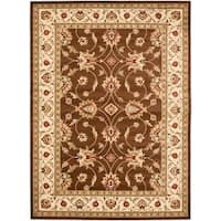 "Safavieh Lyndhurst Traditional Oriental Brown/ Ivory Rug - 8'-9"" x 12'"