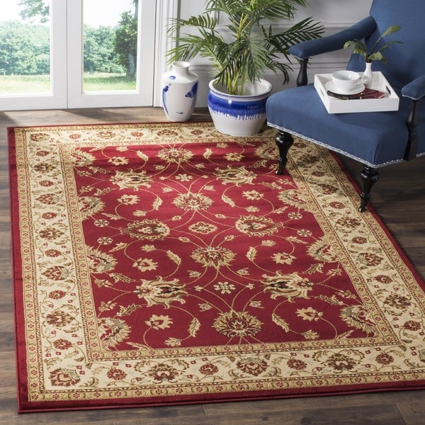 Safavieh Lyndhurst Traditional Oriental Red/ Ivory Rug - 8'9 x 12'