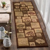 "Safavieh Lyndhurst Contemporary Brown Rug - 2'3"" x 16'"