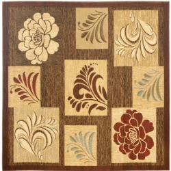 Safavieh Lyndhurst Contemporary Brown Rug (6'7 Square)