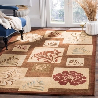 Safavieh Lyndhurst Contemporary Brown Rug (6'7 x 9'6)