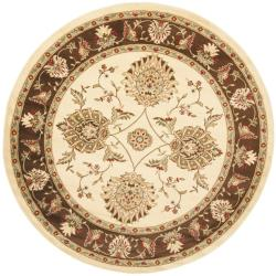Safavieh Lyndhurst Traditional Tabriz Ivory/ Brown Rug (5'3 Round)