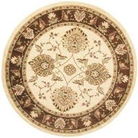 "Safavieh Lyndhurst Traditional Tabriz Ivory/ Brown Rug - 5'3"" x 5'3"" round"
