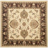 "Safavieh Lyndhurst Traditional Tabriz Ivory/ Brown Rug - 6'7"" x 6'7"" square"