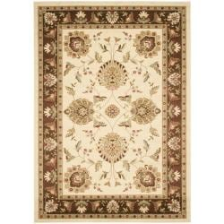 Safavieh Lyndhurst Traditional Tabriz Ivory/ Brown Rug (6'7 x 9'6)