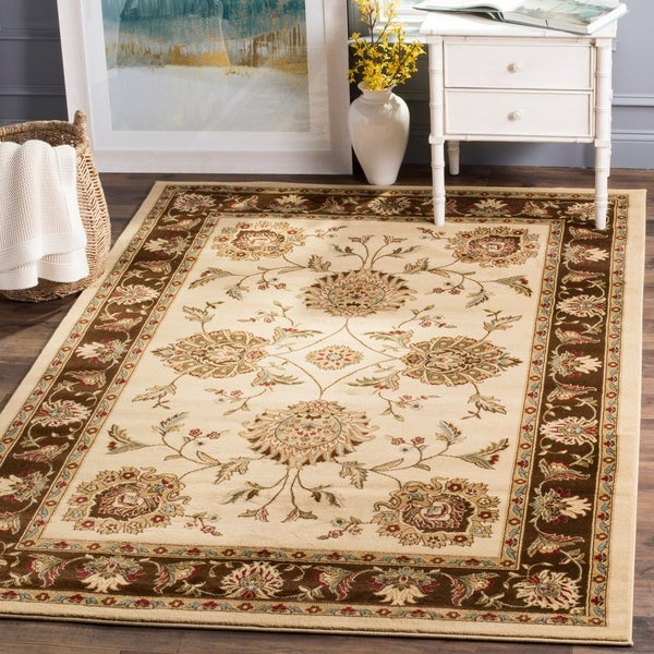 "Safavieh Lyndhurst Traditional Tabriz Ivory/ Brown Rug - 6'7"" x 9'6"""