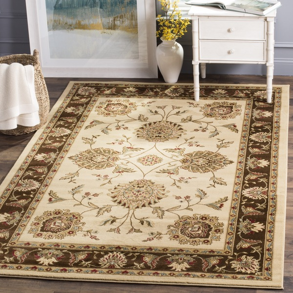 Safavieh Lyndhurst Traditional Tabriz Ivory/ Brown Rug (8' 9 x 12')