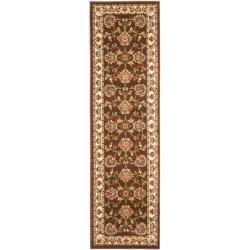 Safavieh Lyndhurst Traditional Tabriz Brown/ Ivory Rug (2'3 x 8')