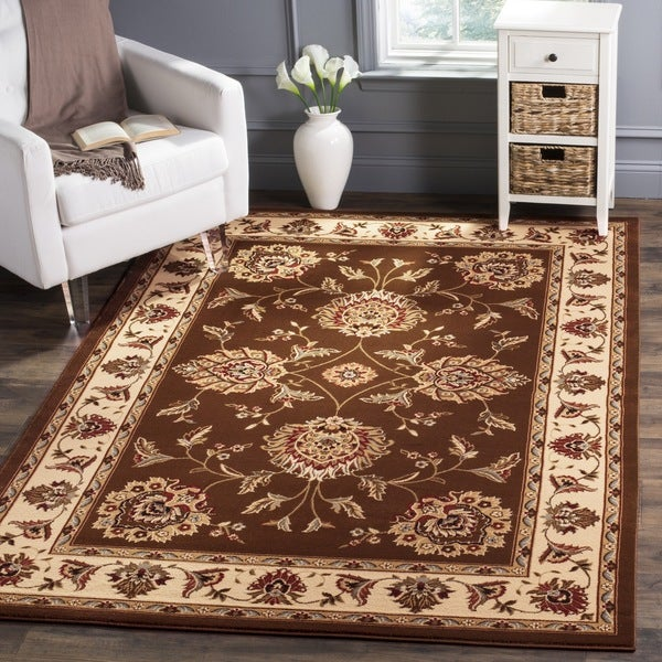 Safavieh Lyndhurst Traditional Tabriz Brown/ Ivory Rug (3'3 x 5'3)