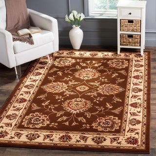 Safavieh Lyndhurst Traditional Tabriz Brown/ Ivory Rug (5'3 x 7'6)