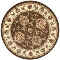 "Safavieh Lyndhurst Traditional Tabriz Brown/ Ivory Rug - 5'3"" x 5'3"" round"