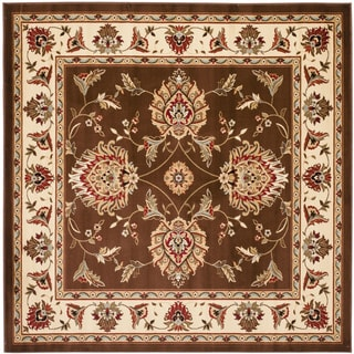 Safavieh Lyndhurst Traditional Tabriz Brown/ Ivory Rug (6'7 Square)