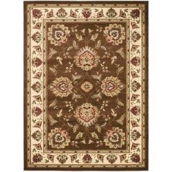 Safavieh Lyndhurst Traditional Tabriz Brown/ Ivory Rug (6'7 x 9'6)