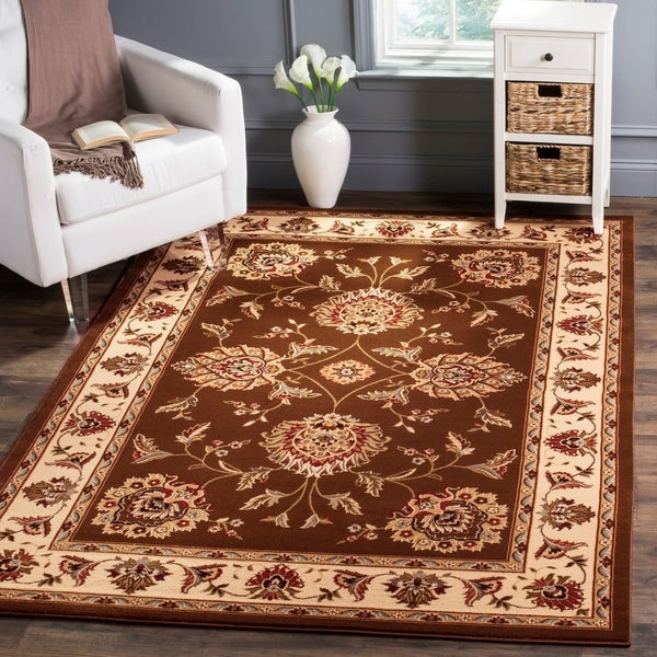 Safavieh Lyndhurst Traditional Tabriz Brown/ Ivory Rug - 8' X 11'