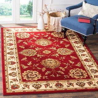 Safavieh Lyndhurst Traditional Tabriz Red/ Ivory Rug (5'3 x 7'6)