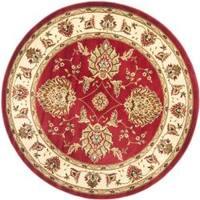 Safavieh Lyndhurst Traditional Tabriz Red/ Ivory Rug (5'3 Round)