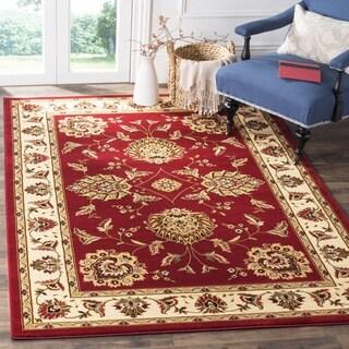 Safavieh Lyndhurst Traditional Tabriz Red/ Ivory Rug (6'7 Square)