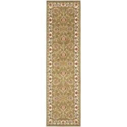 Safavieh Lyndhurst Traditional Tabriz Green/ Ivory Rug (2'3 x 8')