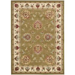Safavieh Lyndhurst Traditional Tabriz Green/ Ivory Rug (6'7 x 9'6)