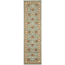 Safavieh Lyndhurst Traditional Tabriz Blue/ Ivory Rug (2'3 x 16')