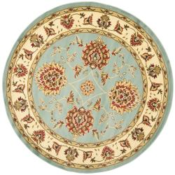 Safavieh Lyndhurst Traditional Tabriz Blue/ Ivory Rug (5'3 Round)