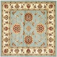 """Safavieh Lyndhurst Traditional Tabriz Blue/ Ivory Rug - 6'7"""" x 6'7"""" square"""