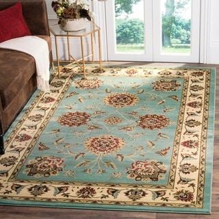 Safavieh Lyndhurst Traditional Tabriz Blue/ Ivory Rug (6'7 x 9'6)