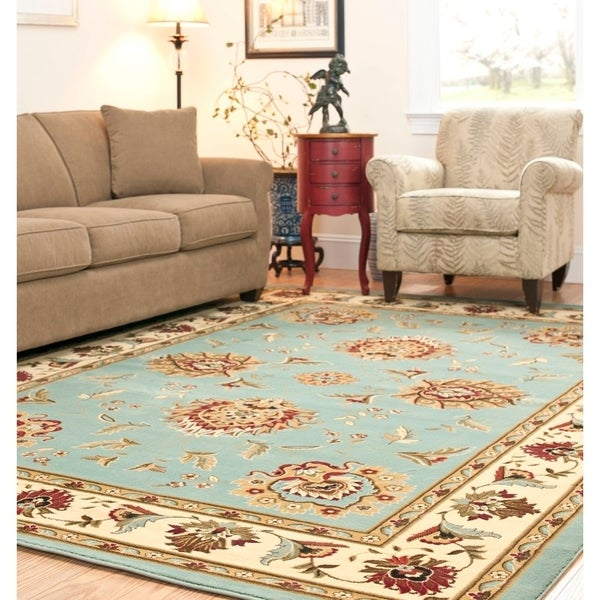 Safavieh Lyndhurst Traditional Tabriz Blue/ Ivory Rug - 8' x 11'