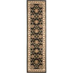 Safavieh Lyndhurst Traditional Tabriz Black/ Ivory Rug (2'3 x 12')