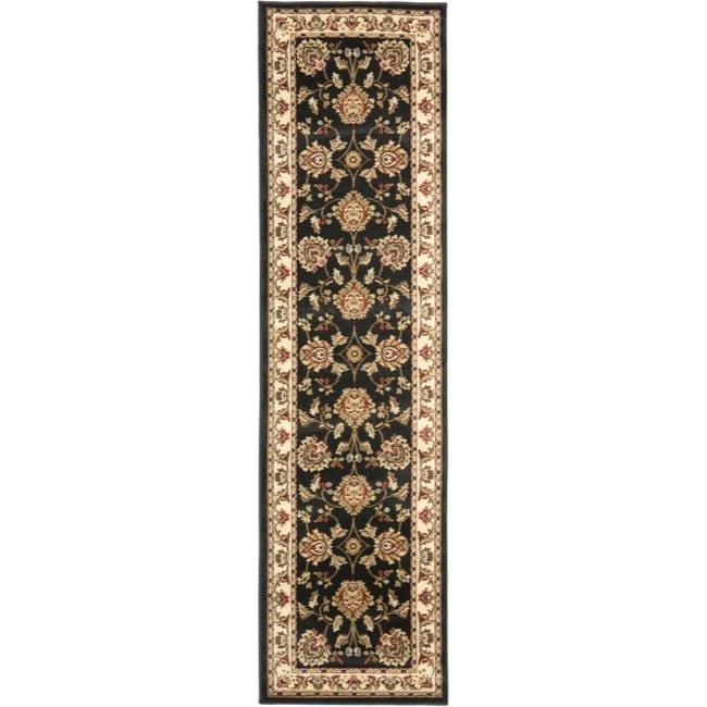 "Safavieh Lyndhurst Traditional Tabriz Black/ Ivory Rug - 2'3"" x 16'"