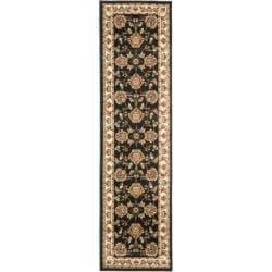 Safavieh Lyndhurst Traditional Tabriz Black/ Ivory Rug (2'3 x 16')
