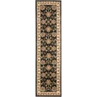 "Safavieh Lyndhurst Traditional Tabriz Black/ Ivory Rug - 2'3"" x 8'"