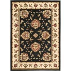 Safavieh Lyndhurst Traditional Tabriz Black/ Ivory Rug (6'7 x 9'6)
