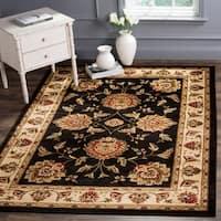 Safavieh Lyndhurst Traditional Tabriz Black/ Ivory Rug - 8'9 x 12'