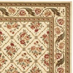 Safavieh Lyndhurst Traditional Floral Trellis Ivory Rug (9' x 12')