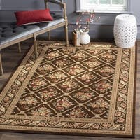 Safavieh Lyndhurst Traditional Floral Trellis Brown Rug - 3'3 x 5'3