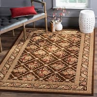 Safavieh Lyndhurst Traditional Floral Trellis Brown Rug - 8' x 11'