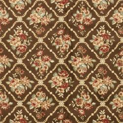 Safavieh Lyndhurst Traditional Floral Trellis Brown Rug (9' x 12')