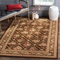 Safavieh Lyndhurst Traditional Floral Trellis Brown Rug - 8'9 x 12'