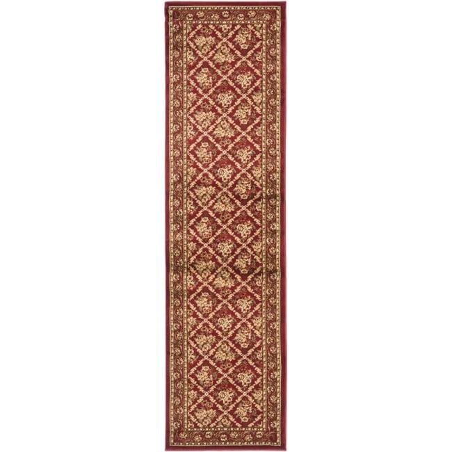 Safavieh Lyndhurst Traditional Floral Trellis Red Rug (2'3 x 16')