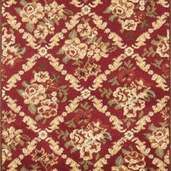 Safavieh Lyndhurst Traditional Floral Trellis Red Rug (2'3 x 16') - Thumbnail 2