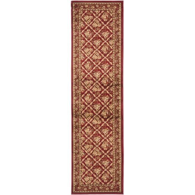 "Safavieh Lyndhurst Traditional Floral Trellis Red Rug - 2'3"" x 8'"