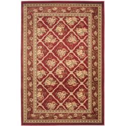 Safavieh Lyndhurst Traditional Floral Trellis Red Rug (3'3 x 5'3)