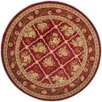 "Safavieh Lyndhurst Traditional Floral Trellis Red Rug - 5'3"" x 5'3"" round"