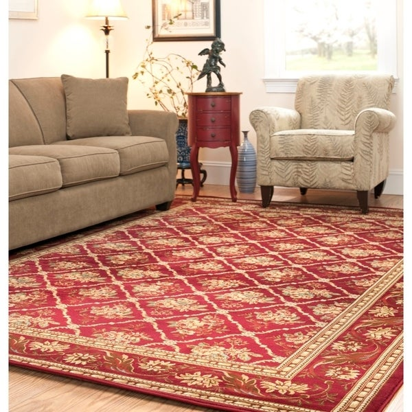 Safavieh Lyndhurst Traditional Floral Trellis Red Rug - 9' x 12'
