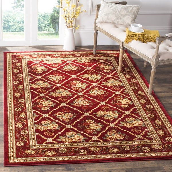 Safavieh Lyndhurst Traditional Floral Trellis Red Rug (9' x 12')