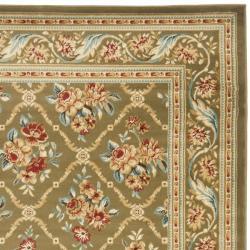 Safavieh Lyndhurst Traditional Floral Trellis Green Rug (5'3 x 7'6)
