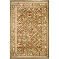 "Safavieh Lyndhurst Traditional Floral Trellis Green Rug - 5'-3"" x 7'-6"""