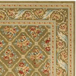 Safavieh Lyndhurst Traditional Floral Trellis Green Rug (8' x 11') - Thumbnail 1